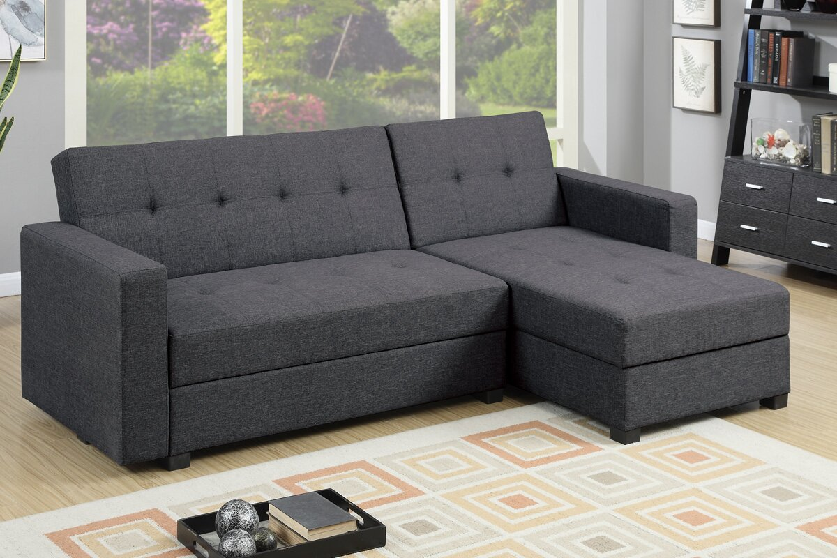 Danos Reversible Sleeper Sectional : sectional futon - Sectionals, Sofas & Couches