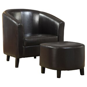 Burke Barrel Chair and Ottoman by Latitude Run