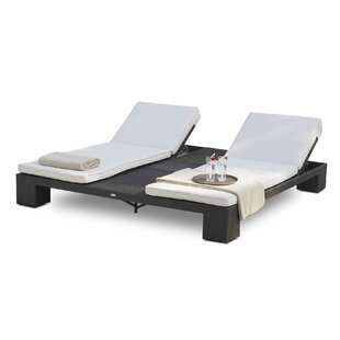 Brayden Studio Westcott Double Chaise Lounge with Cushion