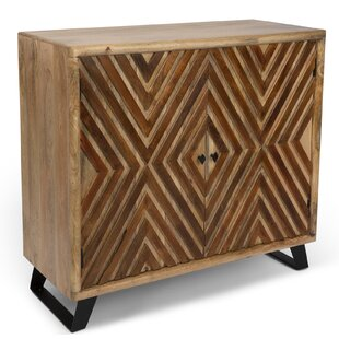 Kangley Acacia Wood Diamond Overlay 2 Door Accent Cabinet by Union Rustic