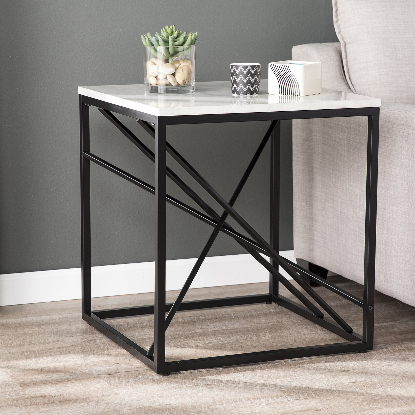 Ivy Bronx Onsted Frame End Table Reviews Wayfair