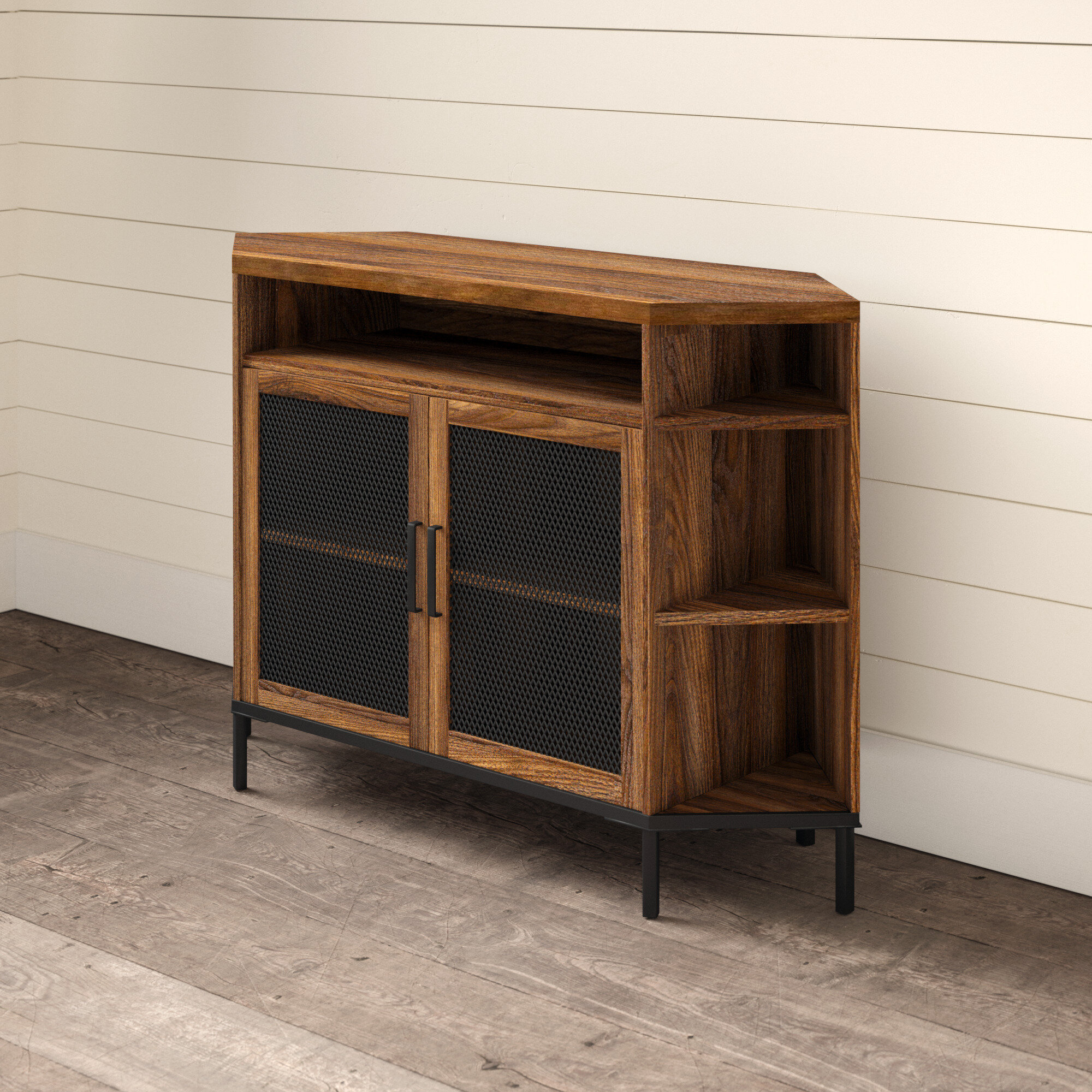 Picture of: Cintron Corner Tv Stand For Tvs Up To 55 Reviews
