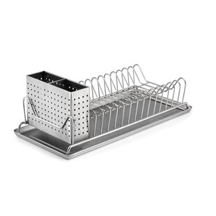 Compact Stainless Steel Dish Rack by Symple Stuff