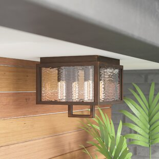 Read Reviews Borkowski 4-Light Outdoor Flush Mount By Mercury Row