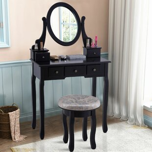 Charlton Home Lought Vanity Set with Mirror