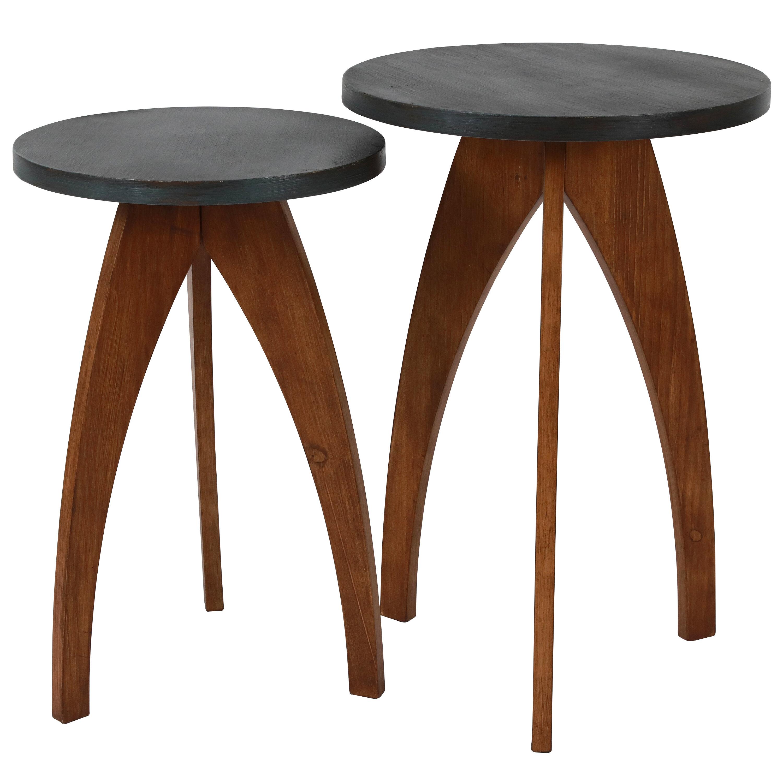 Brayden Studio Erna 3 Legs End Table Set Reviews Wayfair Ca