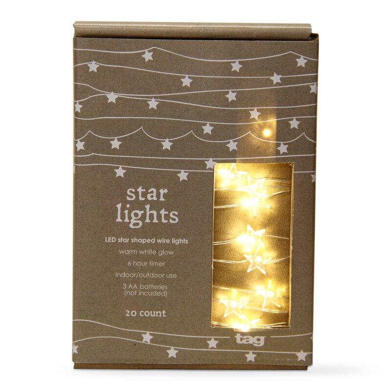 Tag Christmas Star Shaped 20 Led Light String Lights Reviews Wayfair