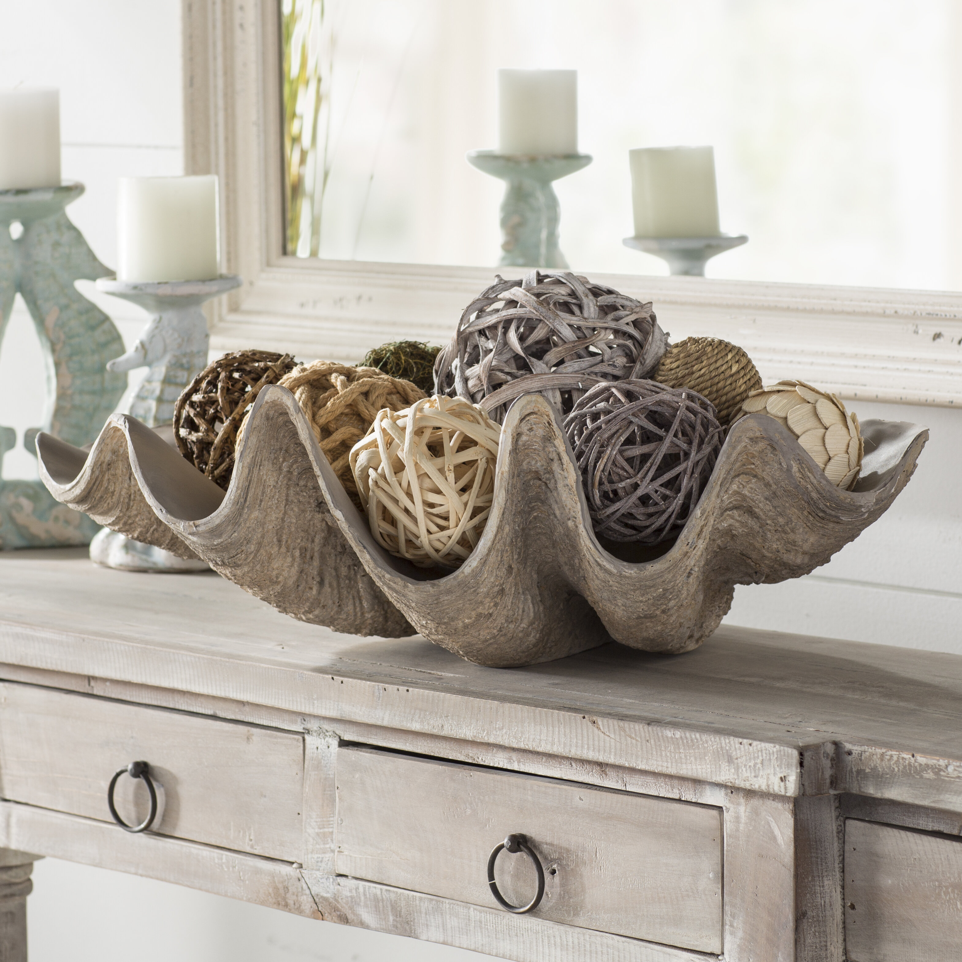 & Beachcrest Home Clam Shell Decorative Bowl \u0026 Reviews | Wayfair