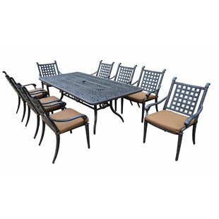 Arness 14 Piece Bar Height Dining Set