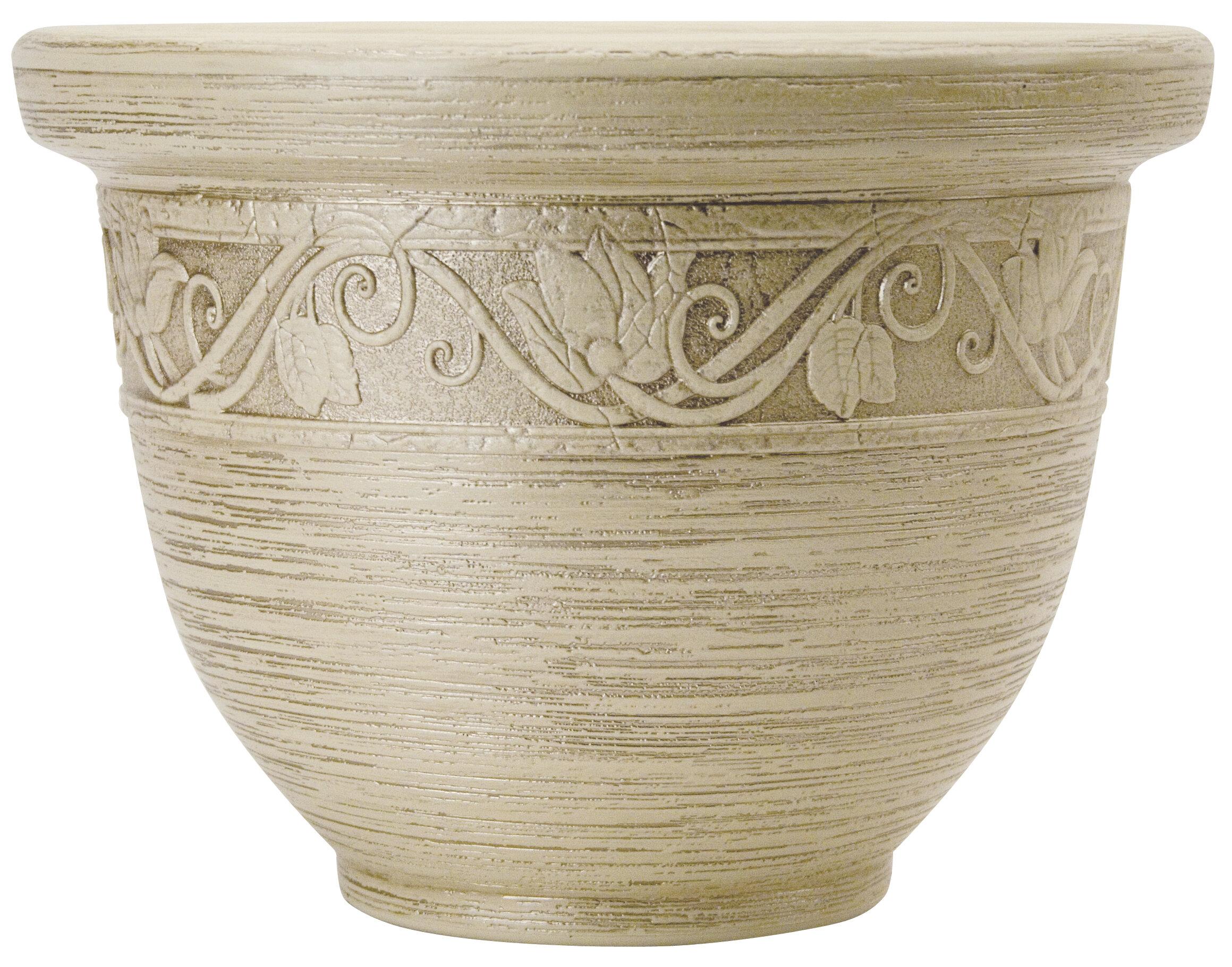 Elegant Glaze Resin Pot Planter (Set Of 3). By Akro Mils Lawn U0026 Garden
