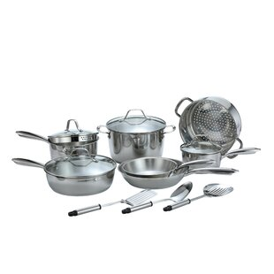 Professional 14 Piece Stainless Steel Cookware Set