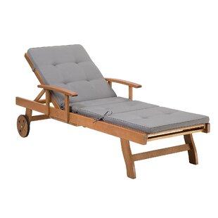 Batali Reclining Sun Lounger With Cushion Image