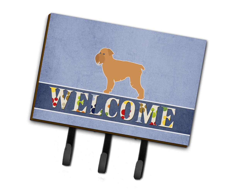 East Urban Home Brussels Griffon Welcome Leash Or Key Holder Wayfair