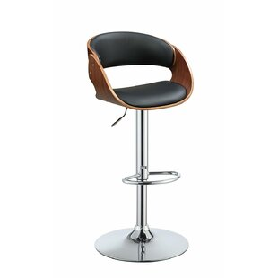 Dougherty Adjustable Height Swivel Bar Stool by George Oliver