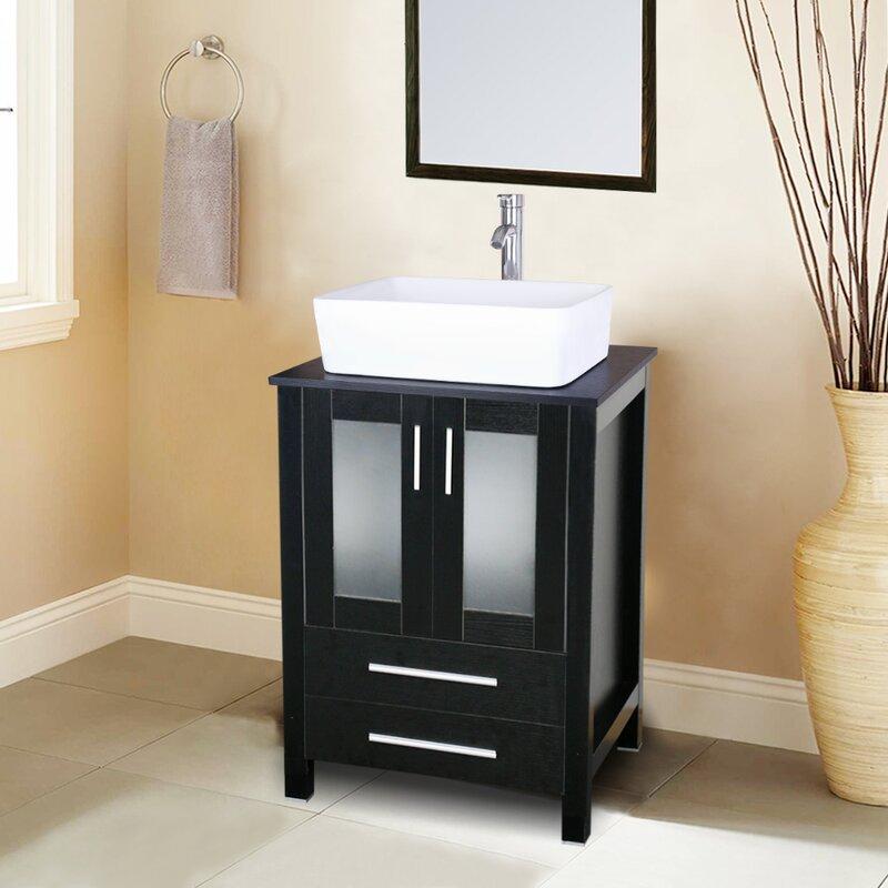 Eclife 24 Single Bathroom Vanity Set With Mirror Reviews Wayfair