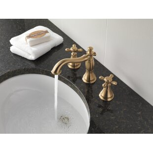 Cassidy Widespread Bathroom Faucet with Metal Pop Up By Delta