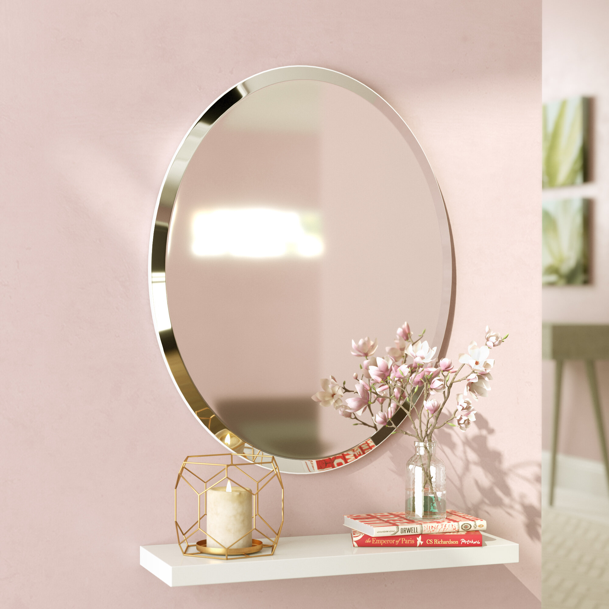 Murdock Beveled Frameless Wall Mirror
