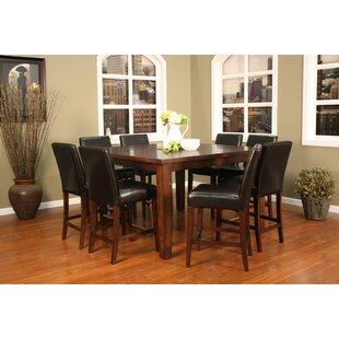 Cameo 9 Piece Counter Height Pub Set. By American Heritage