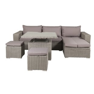 Vedika 5 Seater Rattan Corner Sofa Set Image