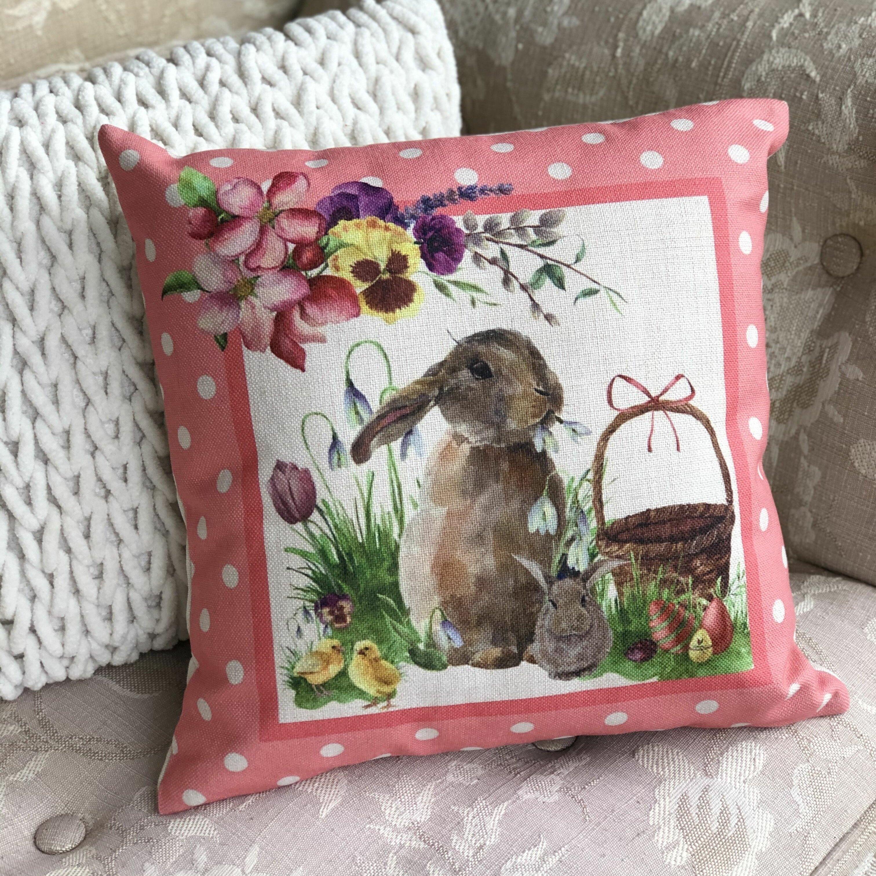 The Holiday Aisle Nevra Easter Bunny Throw Pillow Wayfair