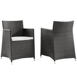 Modway Everett Patio Arm Chair with Cushion (Set of 2)