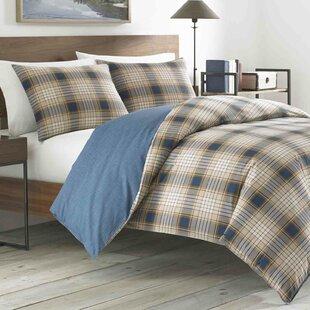 Eddie Bauer Elliot Plaid 100% Cotton Reversible Comforter Set