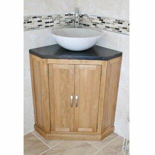 Deck Solid Oak 550mm Free-Standing Vanity Unit by Belfry Bathroom