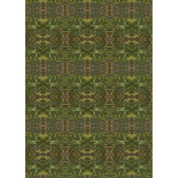 East Urban Home Kandy Oriental Wool Green Area Rug Wayfair