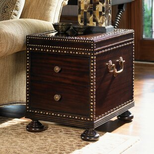 Tommy Bahama Home Royal Kahala Sunset Cay End Table with Storage