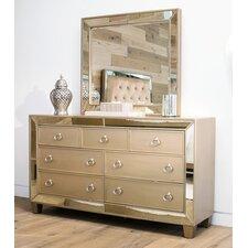 Alasdair 7 Drawer Double Dresser with Mirror by Willa Arlo Interiors