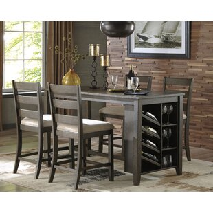 Chapdelaine 5 Piece Pub Table Set Gracie Oaks