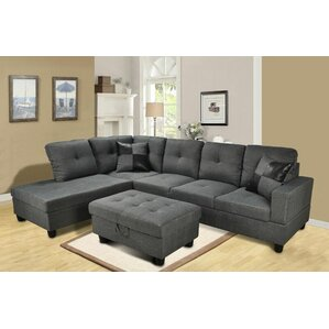 Benjamin Reversible Sectional by Beverly Fine Furniture
