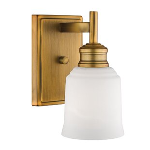 Zeke 1-Light Armed Sconce by Winston Porter