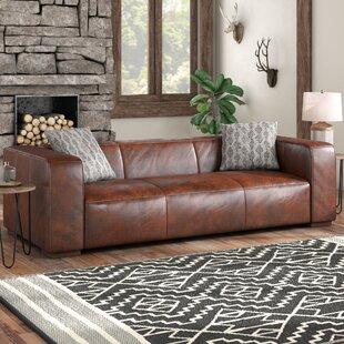 Union Rustic Sherron Leather Sofa