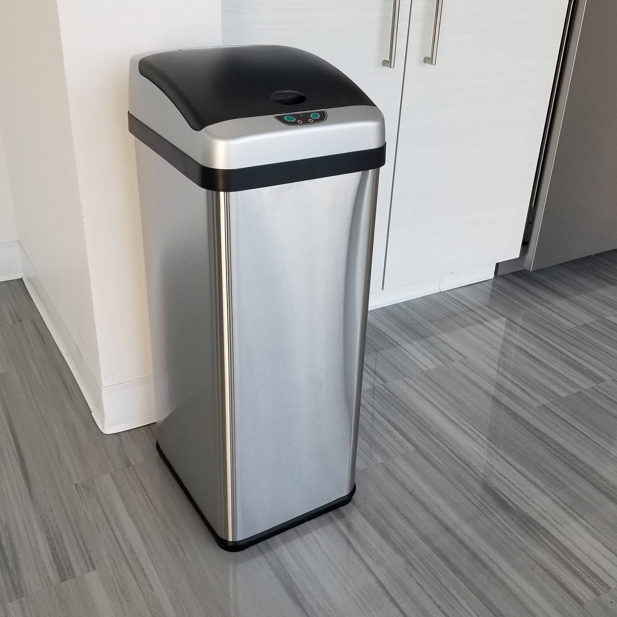 13 gallon touch free trash can bedroom outdoor