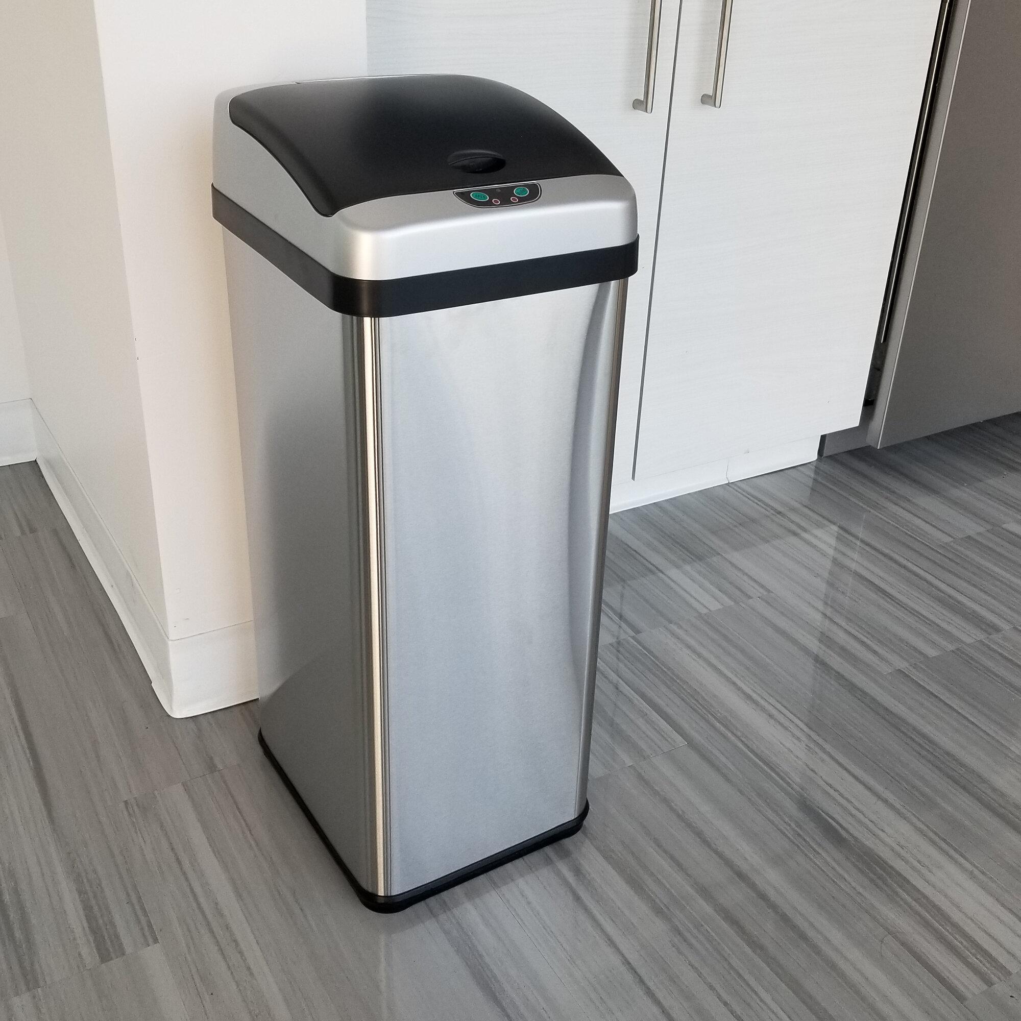Halo Platinum 13 Gallon Motion Sensor Trash Can Reviews Wayfair