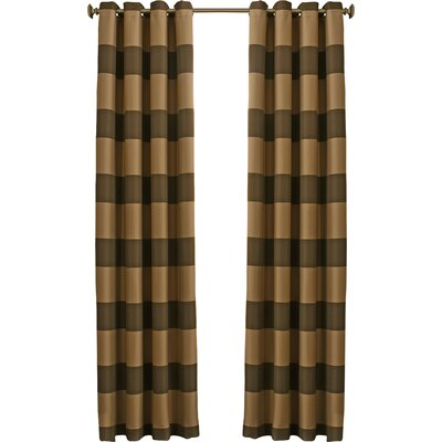 Beautyrest Gaultier Striped Max Blackout Grommet Single Curtain Panel Color: Chocolate, Size per Panel: 52 W x 95 L