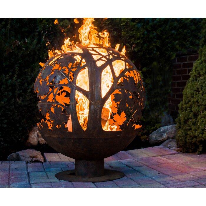 Herbert Sphere Leaf Outdoor Fire Pit