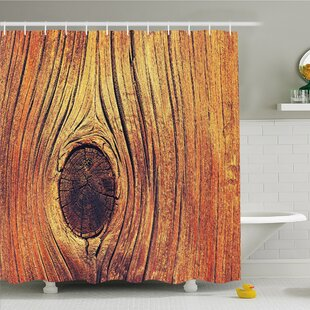 Rustic Home Life Tree Concept with Divided Core Macro Circles Habitat Natural Wonder Shower Curtain Set