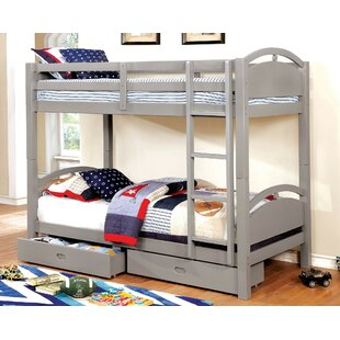 Santoyo Twin Over Twin Bunk Bed with Drawers by Harriet Bee