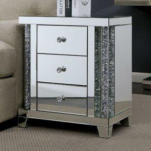 Modoc Acrylic Three Drawer End Table