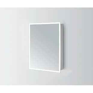 Yinn 50 X 70cm Surface Mounted Mirror Cabinet With LED Lightning By Wade Logan