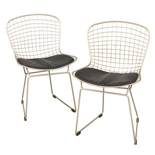 Wrought Studio Merrimac Wire Upholstered Side Chair (Set of 2)