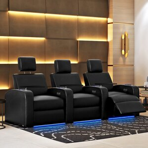 home theater couch. power recline leather home theater sofa (row of 3) couch n