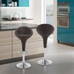 Galeton Adjustable Height Swivel Bar Stool (Set of 2) by Orren Ellis