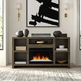 Columbia TV Stand for TVs up to 75 with Electric Fireplace Included by Greyleigh™