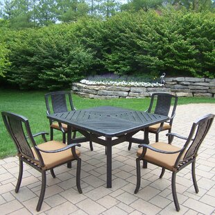Oakland Living Vanguard 5 Piece Dining Set with Cushions