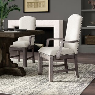 Devers Upholstered Dining Chair (Set of 2) Greyleigh