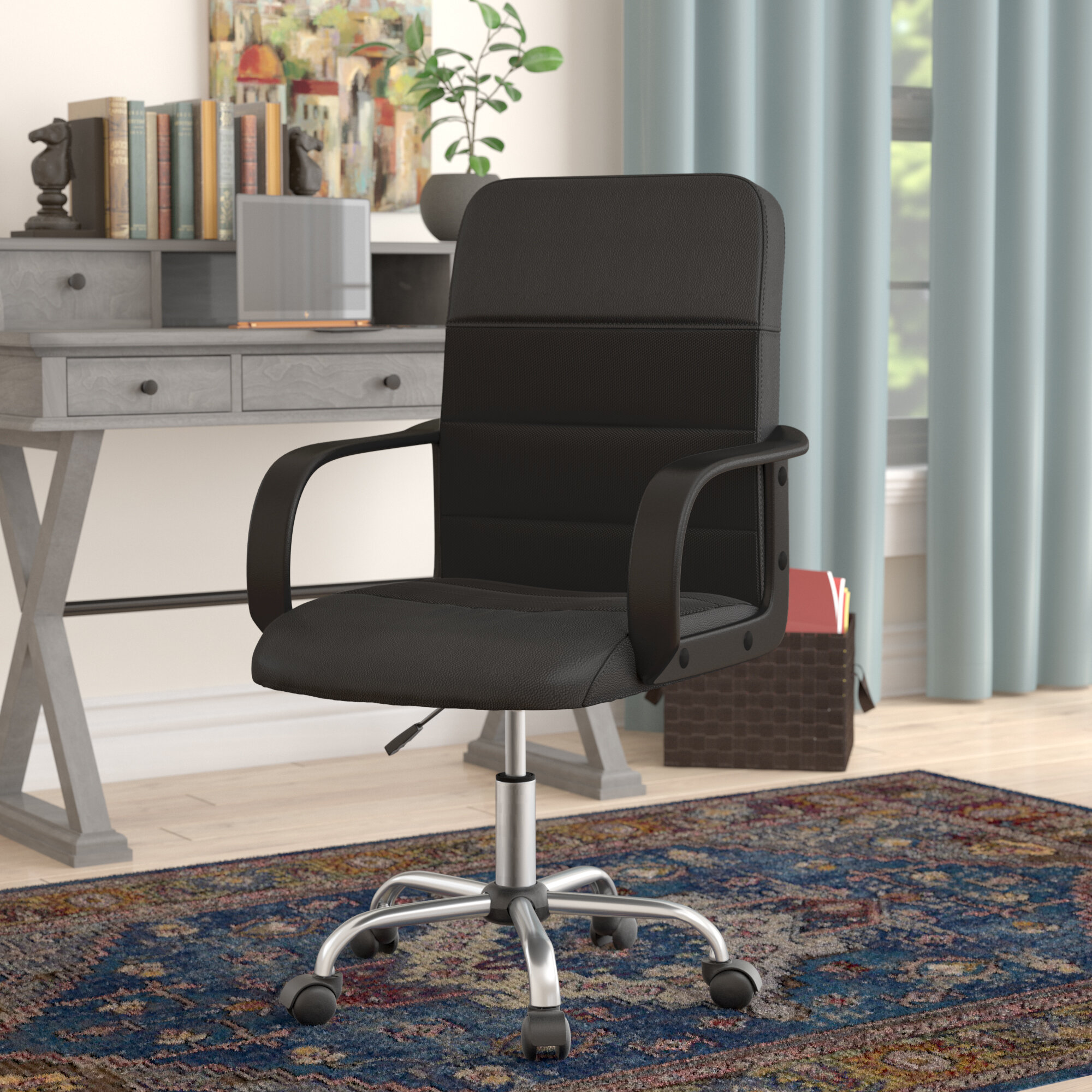 Charlton Home Bischof Leather Desk Chair U0026 Reviews | Wayfair