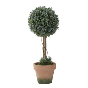 Large Faux Boxwood Topiary In Pot